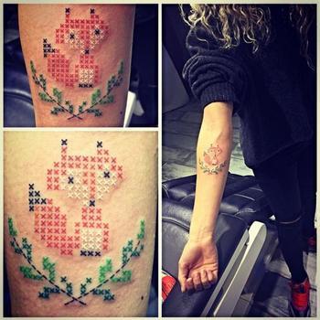 Fantastic Mr. Fox | Ink Grandma Would Approve Of: Cross-Stitch Tattoos Go Viral
