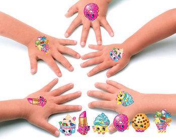 Shopkins temporary tattoos set of 10