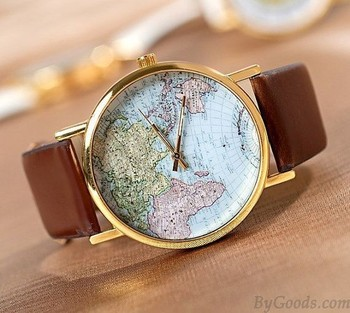 Retro World Map Watch just $13.9 in ByGoods.com