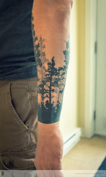 tree tattoo forest