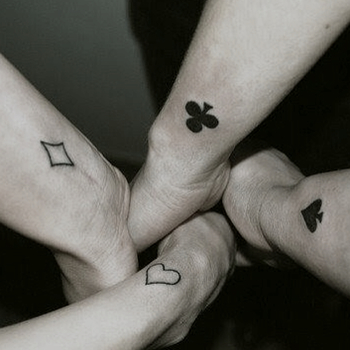 Like this idea for friendship tattoos and theres 4!! @Anna Riddlehoover @Yazmin Flores