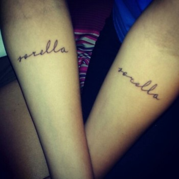 Italian sister tattoos