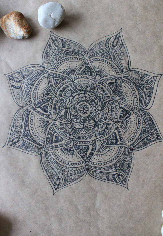 Original hand drawn mandala ink on recycled paper b52bcea9 cd7f 447c 952c f92c3e1e1b67 original