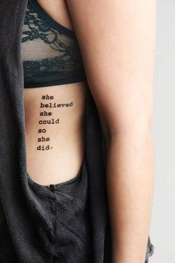 12 Written Tattoo Designs - Pretty Designs