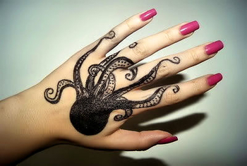 """""""Octopus hand tattoo"""" - nimble hands with long piano fingers if the suckers don't stick ~:^D>"""