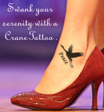 Crane Tattoo Meaning and Design Ideas