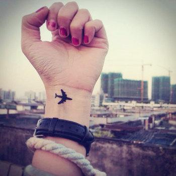 2pcs Little Airplane - InknArt Temporary Tattoo - wrist quote tattoo body sticker fake tattoo wedding