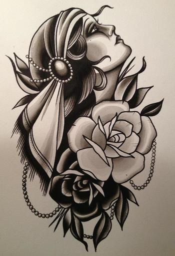 Cassandra Frances - Gypsy Girl. This would make a neat tattoo! ...........click here to find out more