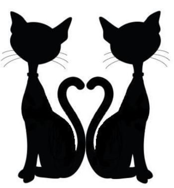 Idea for a door topper - the original clipart was a single cat silhouette and was not mine. I just di