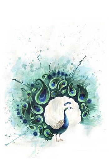 Circle Peacock Art Print by Tracey Cameron | Society6