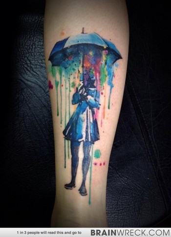 Ever Heard Of Watercolor Tattoos? We Hadn't