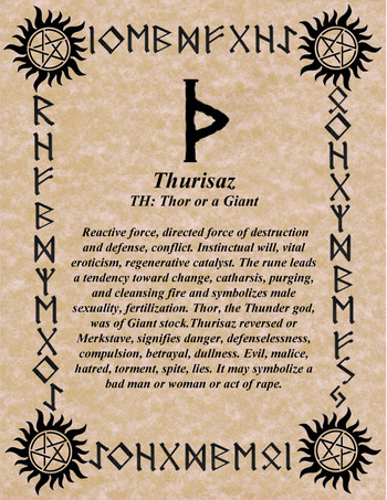 NorseWarlock — norsewarlock:   RUNE OF THE DAY!  THOR'S RUNE FOR...