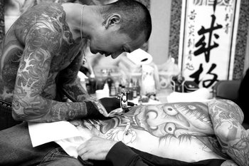 Shige - Master Japanese tattoo artist at work