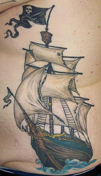 pirate ship tattoo - Google Search http://pinterest.com/treypeezy http://twitter.com/TreyPeezy http:/