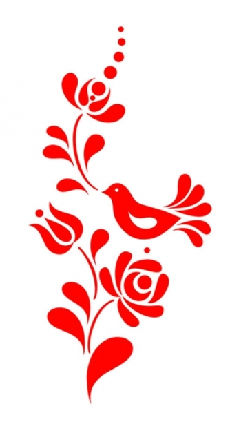 Meska - Madaras virágmintás falmatrica Falma képzőművésztől