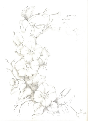 My next tattoo. Morning glories to commemorate my childhood home.