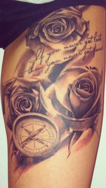 Rose tattoo - I love it ! -