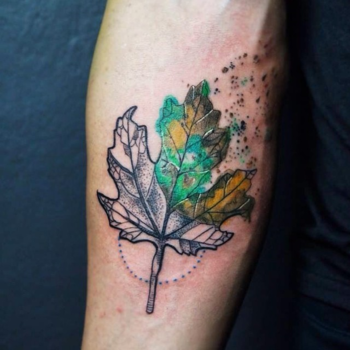 15 Autumnal Tattoos to Celebrate the Natural Beauty of Fall