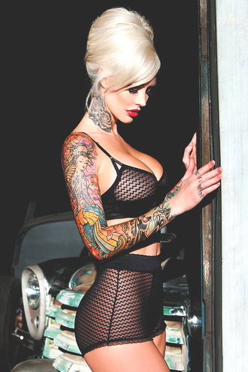 Ink. Do you gurl. Do you. Gorgeous you. I don't have any ink but wow she pulls it off!!