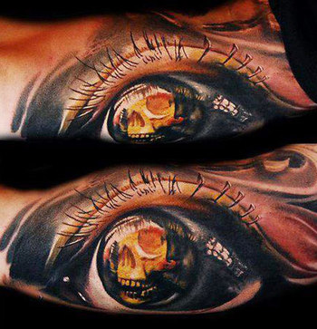 Realism Eyes Tattoo by Tomasz Tofi Torfinski