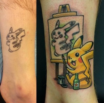 """""""I have tattooed this particular client a few times and he showed me the tattoo. I got excited and su"""