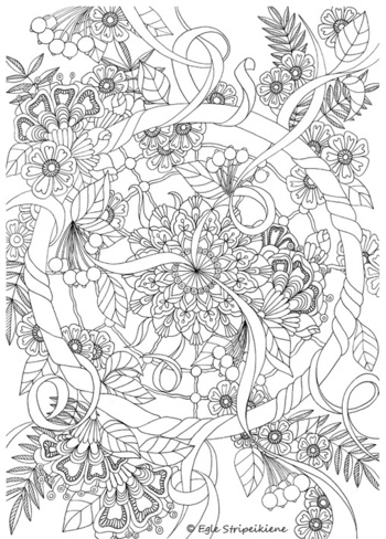 A3 coloring pages COLORS OF LIFE