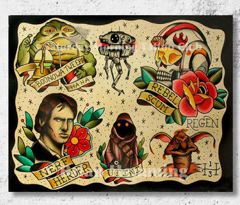 Star Wars Tattoo Flash Sheet (11x14) by Brian Hemming