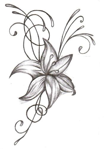 Flower Tattoo Which Is Equipped With Butterfly Free Download
