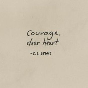 C.S. LEWIS, a great writer who inspires me as I write--with these words (thanks, @sharonbwray).