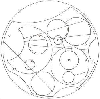 "Inspiration: art. [""I open at the close."" in Circular Gallifreyan.] Harry Potter and Dr. Who mash-up."