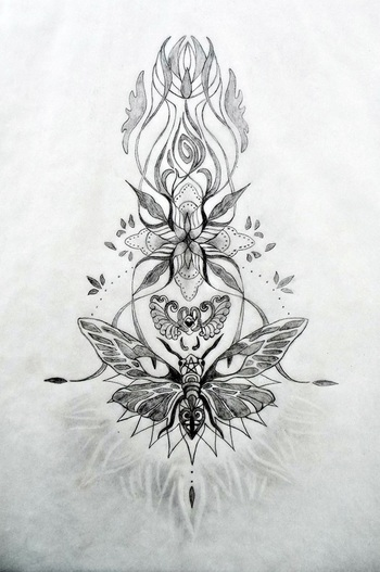 Emerging, Expanding, Evolving, Emanating...Sacred Tattoo Design