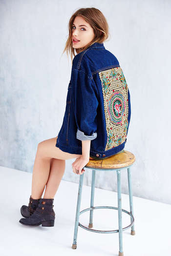 Native Rose Denim Tattoo Jacket - Urban Outfitters