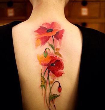 Watercolor Poppy Tattoo   Best tattoo design ideas