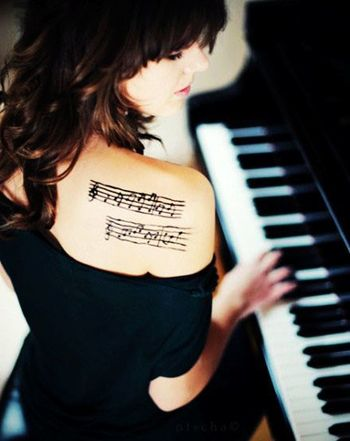 Music Score Tattoo