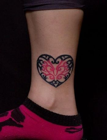 Heart Shape-inspired Tattoo - Pretty Designs