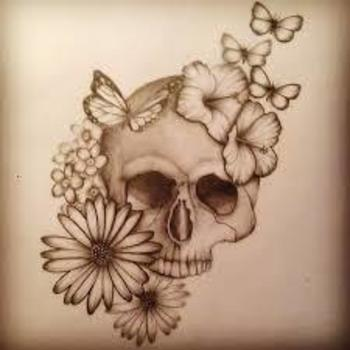 daisy's and skulls tattoo - Google Search