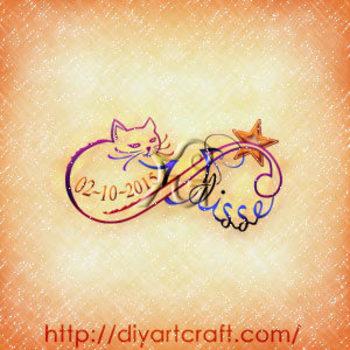 Simbolo infinito gatto Ulisse tattoo bracciale