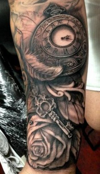 40 Awesome Watch Tattoo Designs | Art and Design