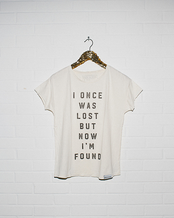 I Once Was Lost White Disheveled Women's T-Shirt