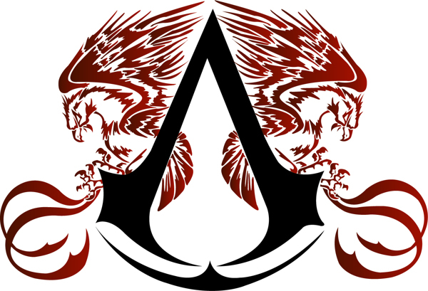 Logo assassin s creed ilustracao on ankle tattoo i think yes original