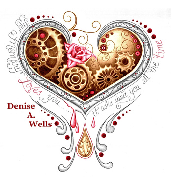 https://flic.kr/p/krUQcv | Memory Heart tattoo design by Denise A. Wells | Bleeding heart tattoo desi