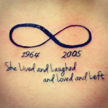 Infinity sign with a quote #tattoo I basically got these tattoo in memory of my Grandmother, to show