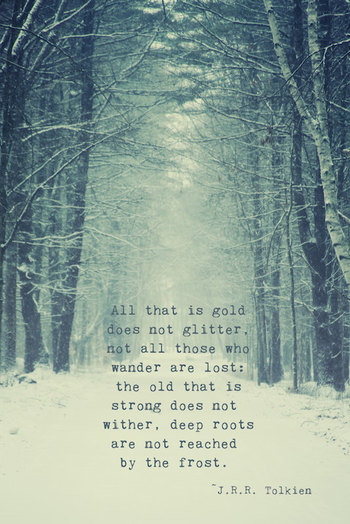 Not All Who Wander Quote Print Tolkien by ShadetreePhotography