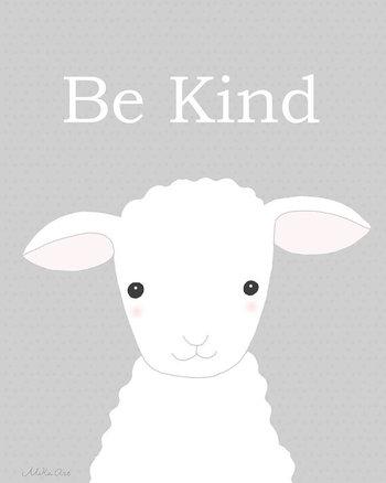 Nursery Art Printable Cute Lamb Illustration Instant Download Sheep Nursery Print Gender Neutral Nursery Pastel Grey Children's Wall Decor