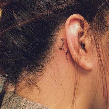 Flower Tattoo Behind Ear   Best Tattoo Ideas Gallery