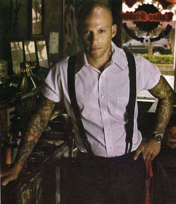Ami James, not only a great tattoo artist, but the only bald headed guy I find attractive haha. No jo