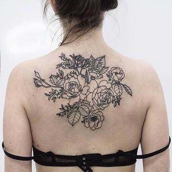 "Olga Nekrasova on Instagram: ""Garden roses and anemones, cover up for Natalie, first session#tattoo #tattoos #ink #inked #tattooed #tattooist #design #tattooedgirl…"""