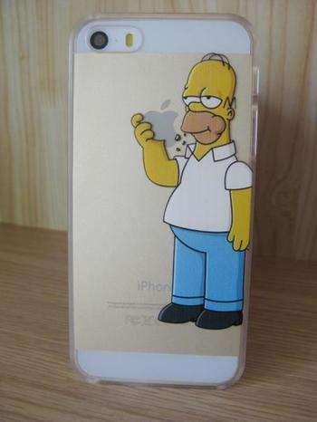 2015 new For iphone Case Hard PC Transparent Cover Homer Simpson Gasp Matt Clear case For Apple iPhone 5 Case & iPhone 5s Case - Gsmcases4you