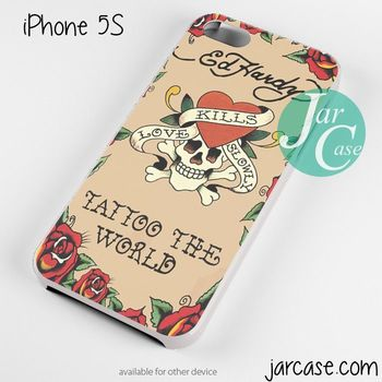 ed hardy tattoo the world Phone case for iPhone 4/4s/5/5c/5s/6/6 plus