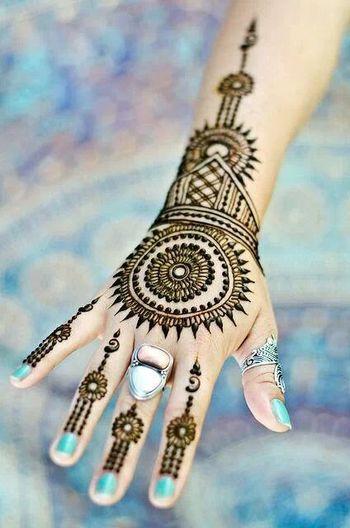 Traditional Round and Circular Mehndi Designs (Set 1)